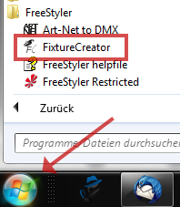 FreeStyler FixtureCreator Start